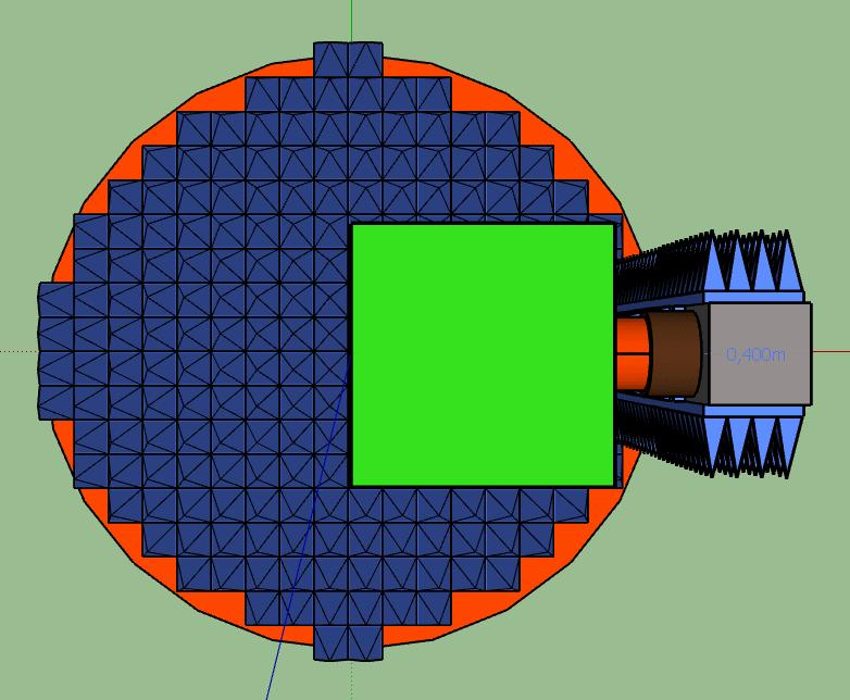 Вид сверху с установленным РПМ.
