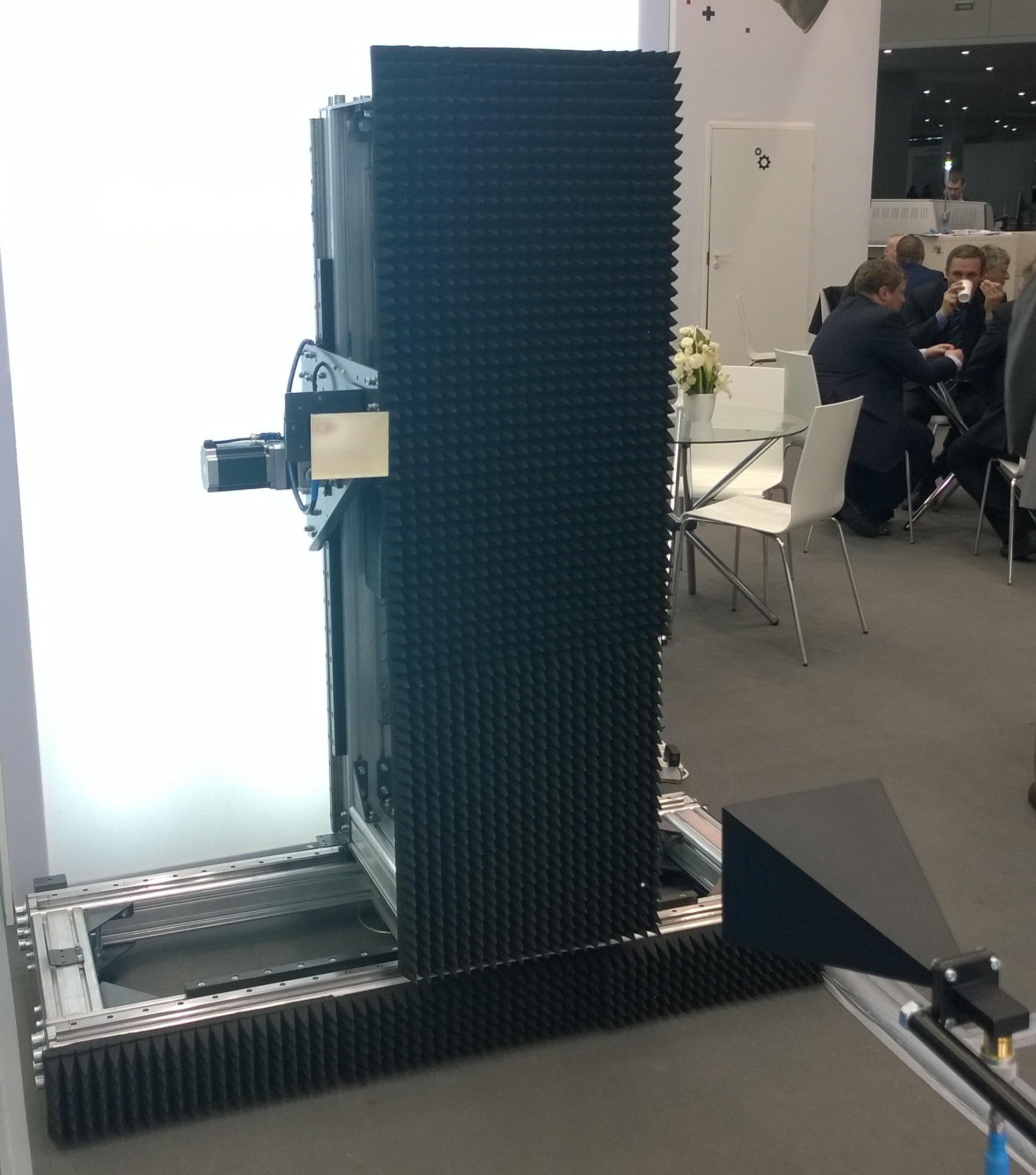 Планарный сканер серии PSN, производства компании Радиолайн, на выставке Экспоэлектроника 2014